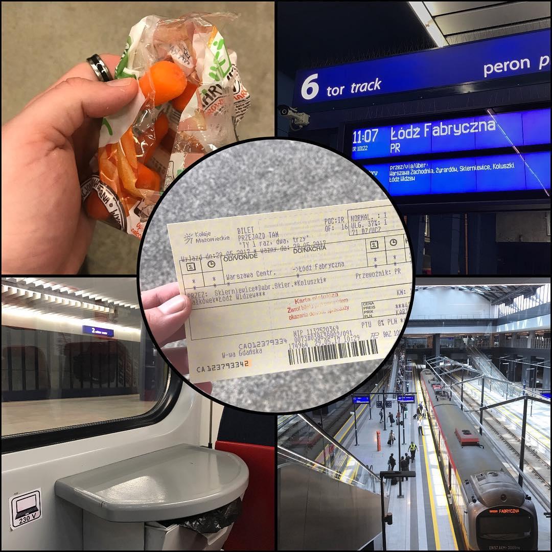 Krążą plotki o legendarnym pociągu 11:07. Póki co wykazaliśmy się przebiegłością i na Dworcu Gdańskim kupiliśmy bilety na pociąg odjeżdżający z centralnego, żeby nie stać w kolejkach. Ten błyskotliwy pomysł zapewne nie zrodziłby się, gdyby nie zdrowa przekąska z marchewek, choć ponoć z tymi małymi marchewkami to jest kłamstwo, bo po prostu wycinają małe z dużych. Nadeszło też wiele wartościowych rekomendacji odnośnie tego, gdzie iść i co zrobić, ale pewnie jak zwykle wszystko wyjdzie w praniu.
